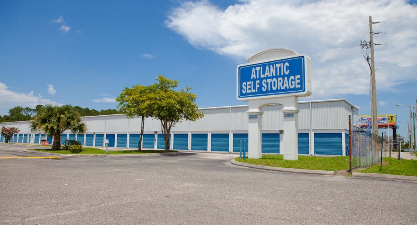Outside view at Atlantic Self Storage location in Jacksonville