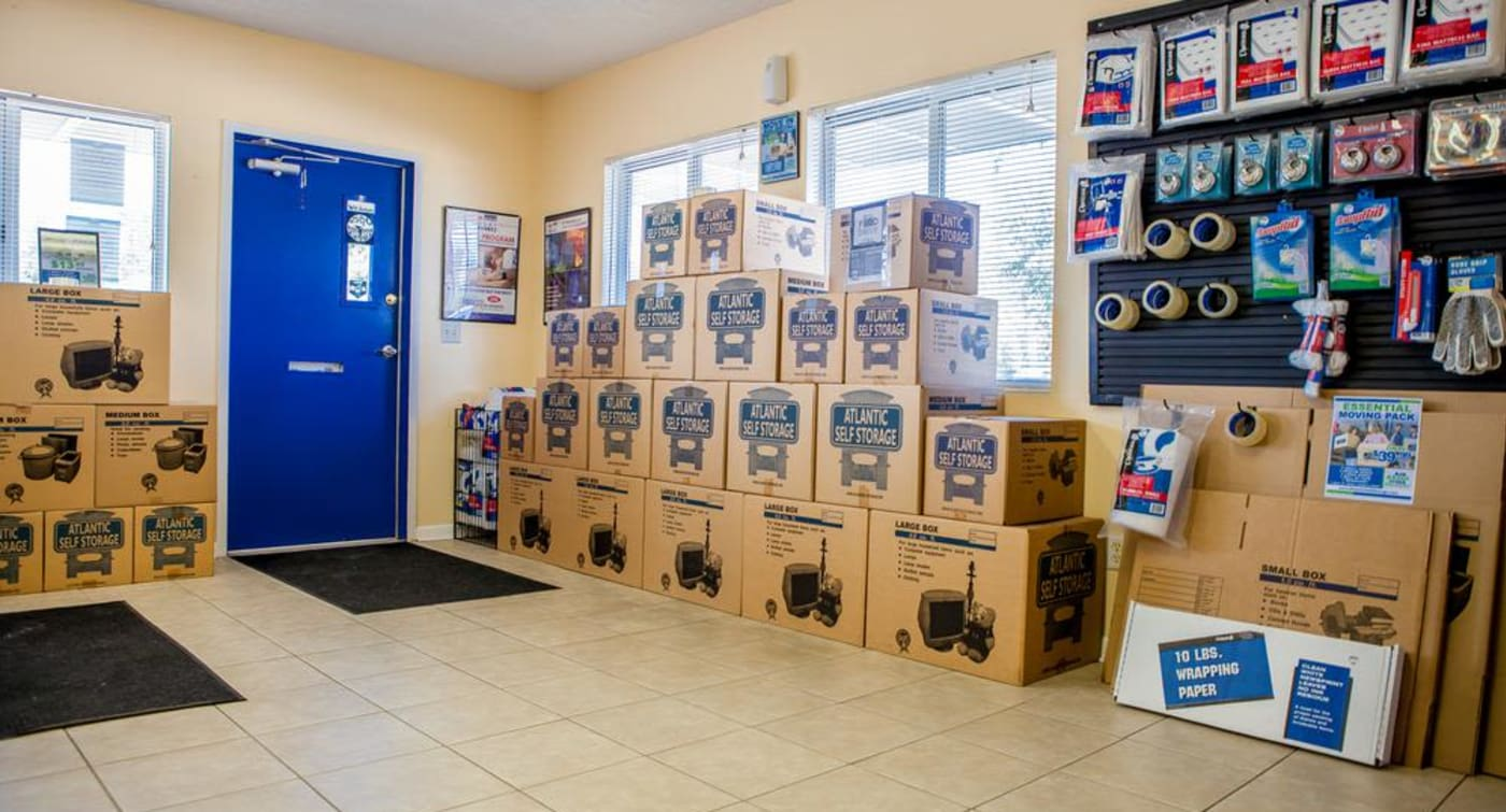 Get all of your moving supplies at Atlantic Self Storage