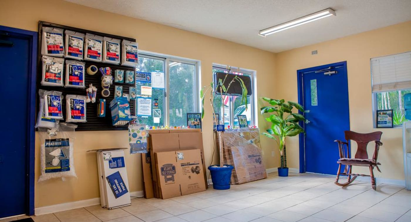 Atlantic Self Storage in Jacksonville offers moving supplies and boxes