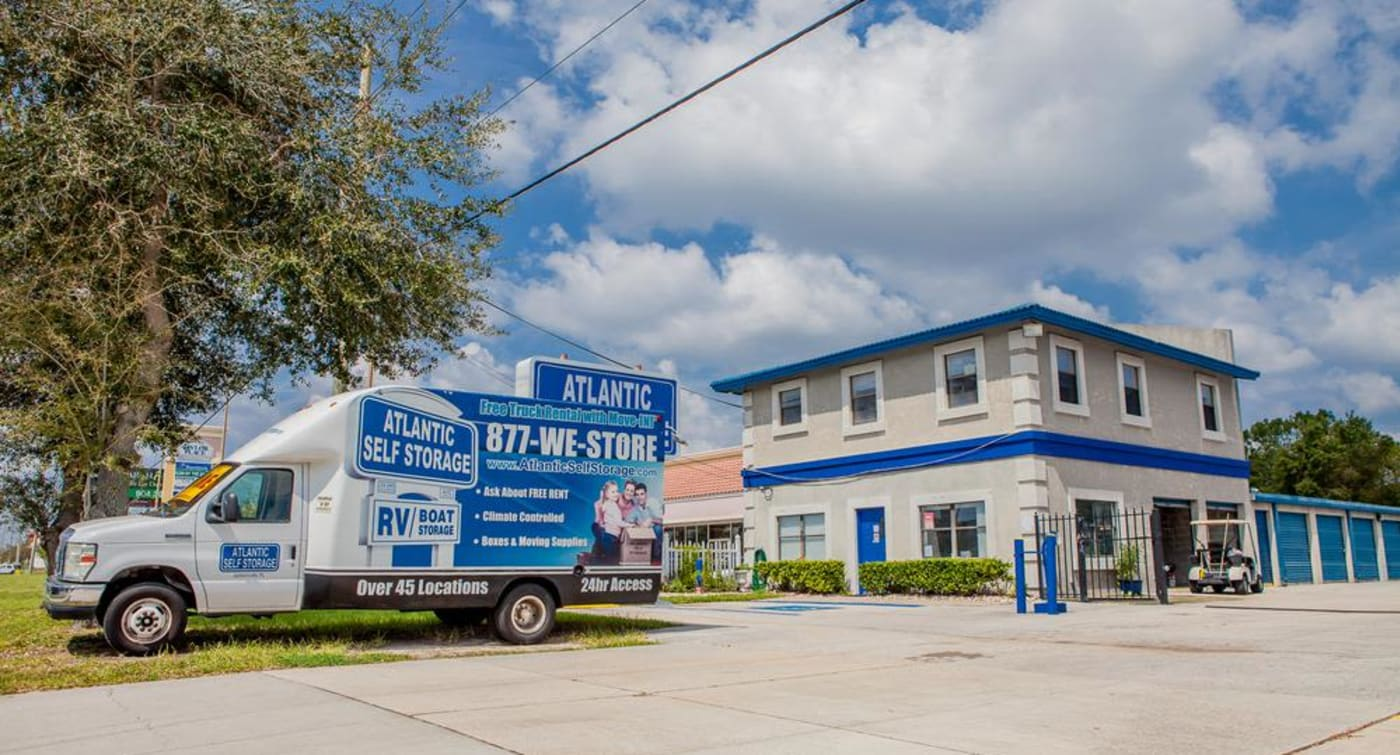 Enjoy the free moving truck when you store with Atlantic Self Storage