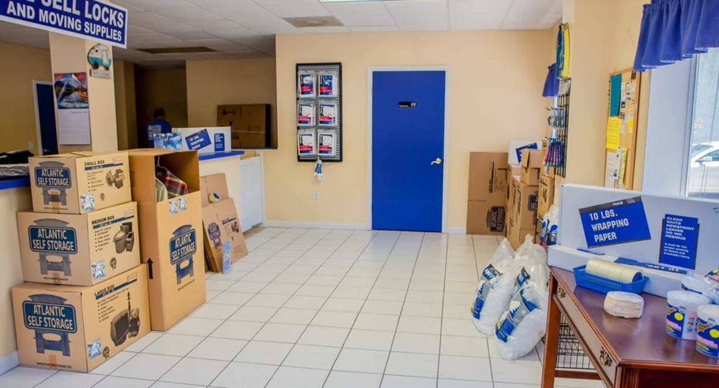 Get your moving supplies at Atlantic Self Storage location in Jacksonville