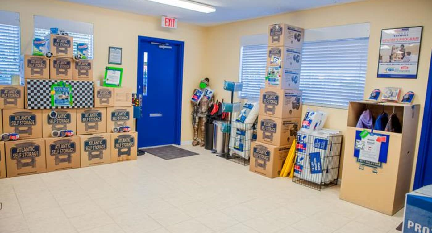 Get your boxes moving supplies at Atlantic Self Storage location in Jacksonville