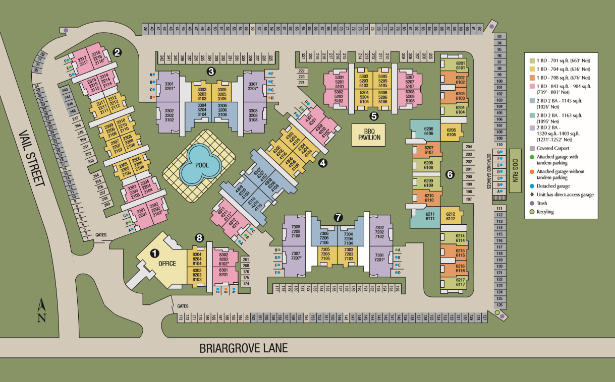 Site map of Briargrove at Vail in Dallas, TX