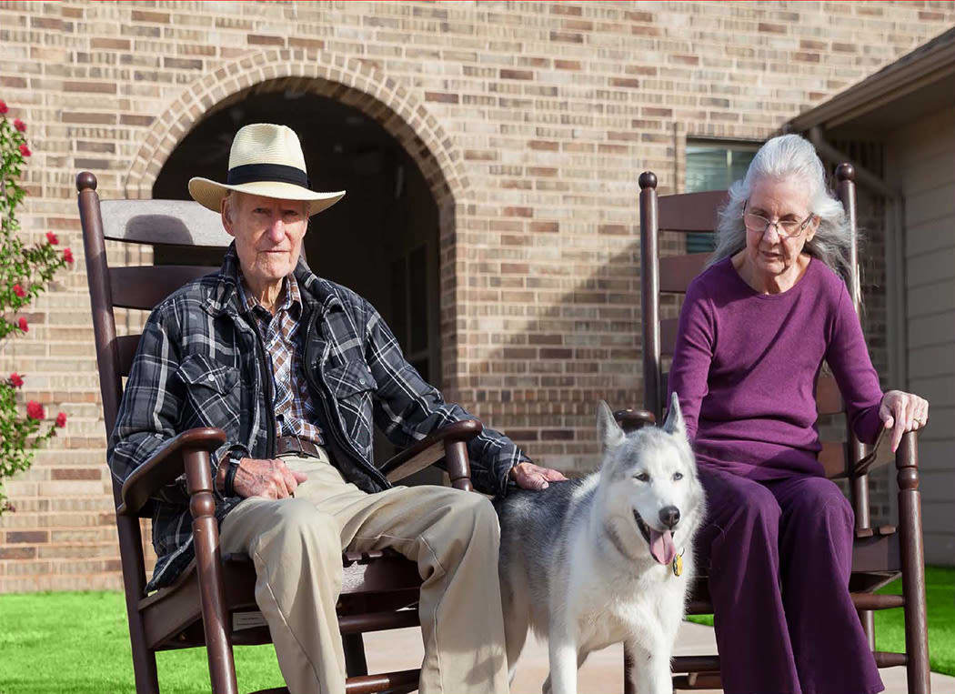 Memory Care couple at Iris Memory Care of Edmond