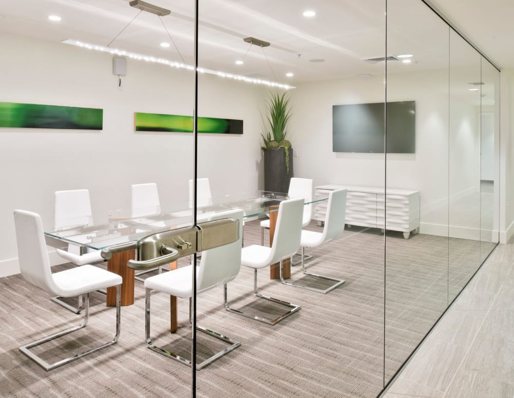 Meeting rooms in the business center at Esprit Marina del Rey in Marina Del Rey, California