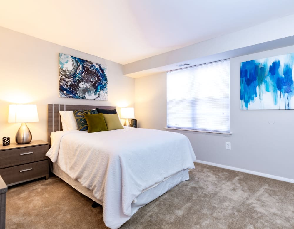 Bright bedroom at Eagle Rock at Quiet Waters in Annapolis, Maryland