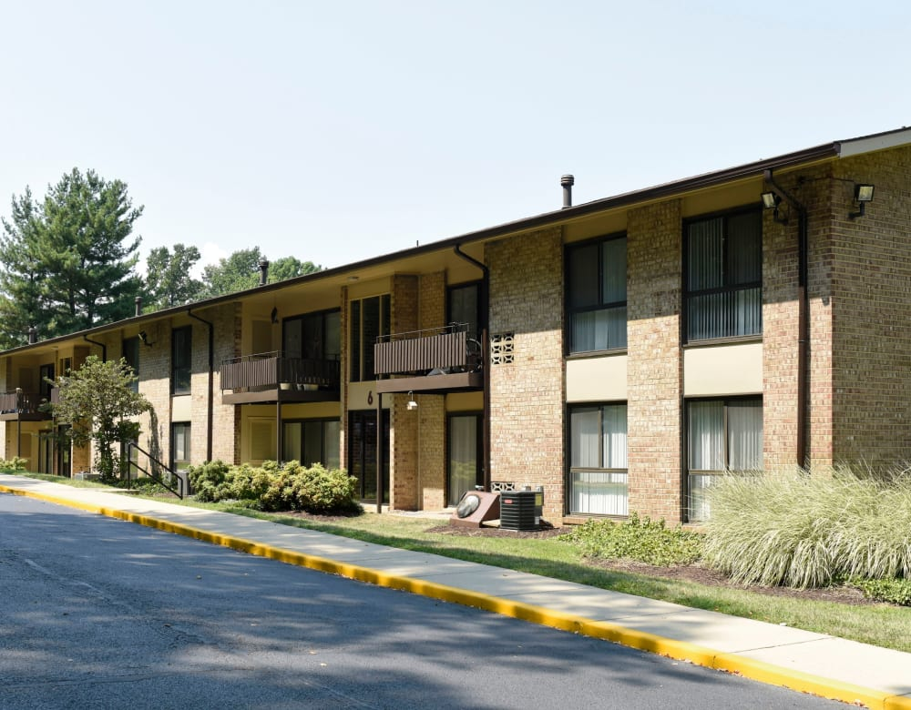 Exterior of Eagle Rock at Quiet Waters's apartments in Annapolis, Maryland
