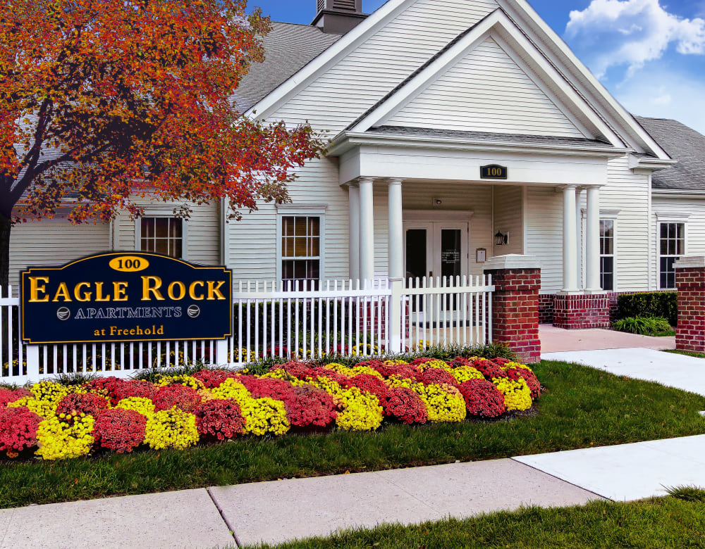 Entrance to Eagle Rock Apartments at Freehold in Freehold, New Jersey