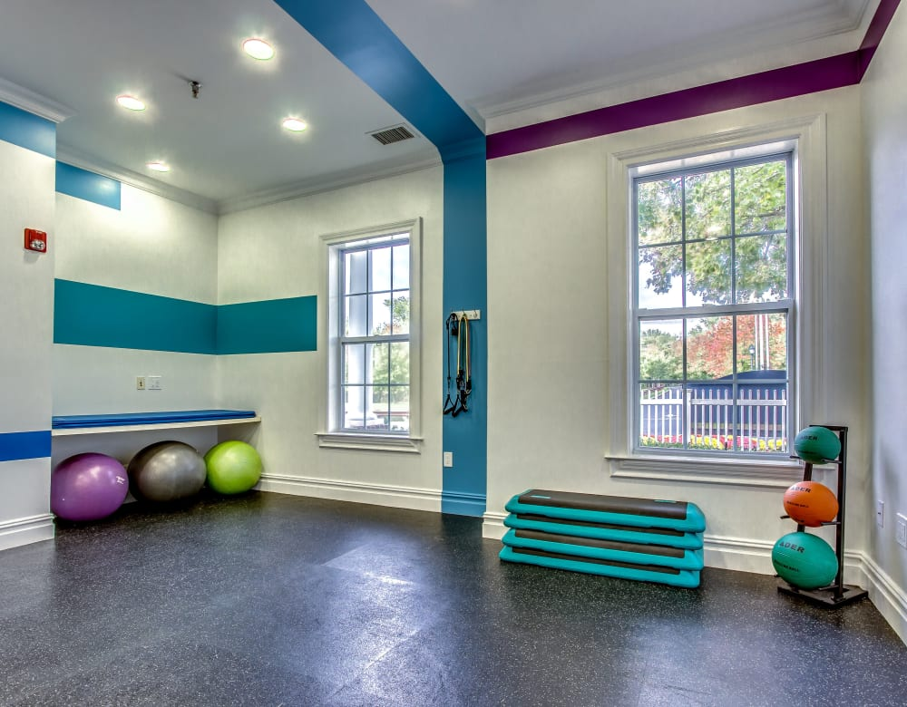 Fitness center at Eagle Rock Apartments at Freehold in Freehold, New Jersey