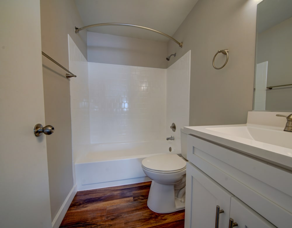 Bathroom model at Beacon Pointe Apartments & Townhomes in Sparrows Point, Maryland