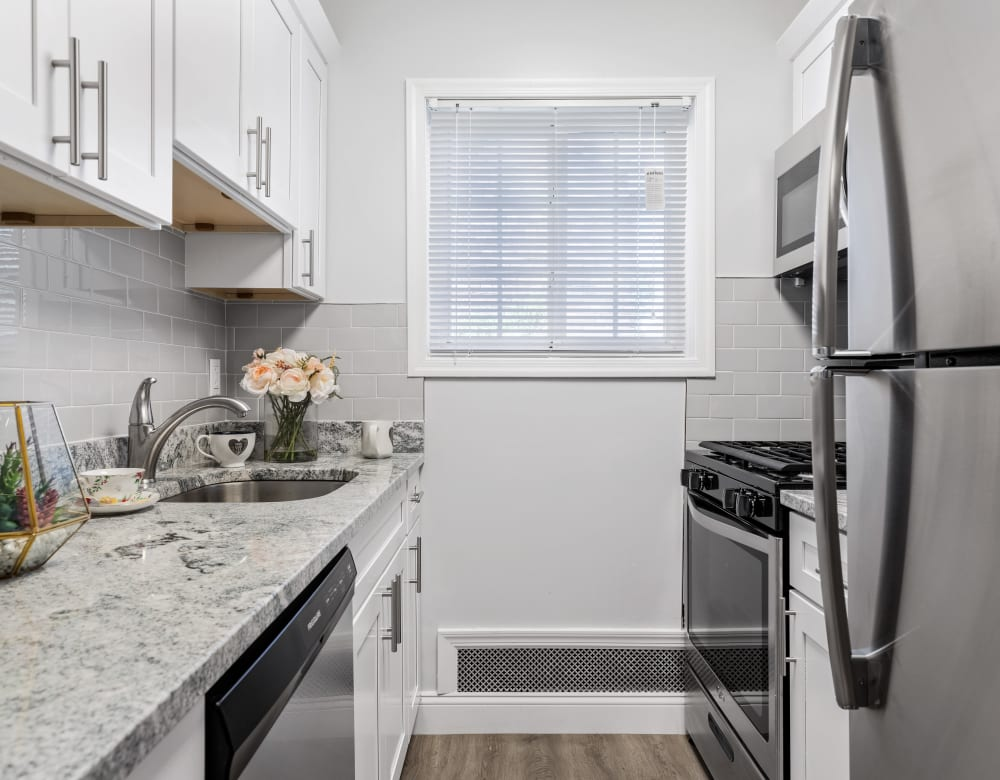 Stunning bright kitchen at Eagle Rock Apartments at Nesconset in Nesconset, New York