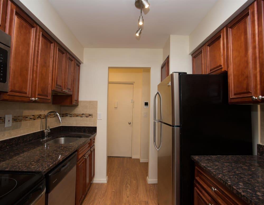 Modern kitchen at Eagle Rock Apartments at South Nyack in South Nyack, New York