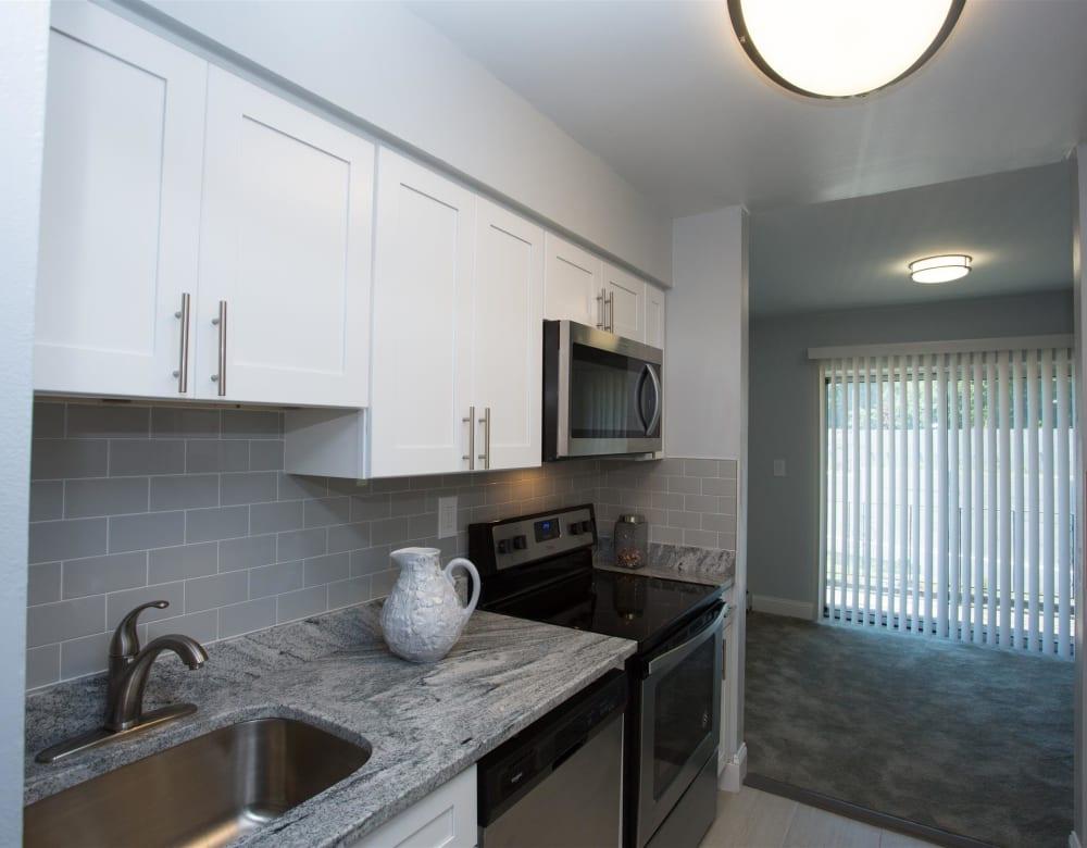 Spacious kitchen at Eagle Rock Apartments at South Nyack in South Nyack, New York