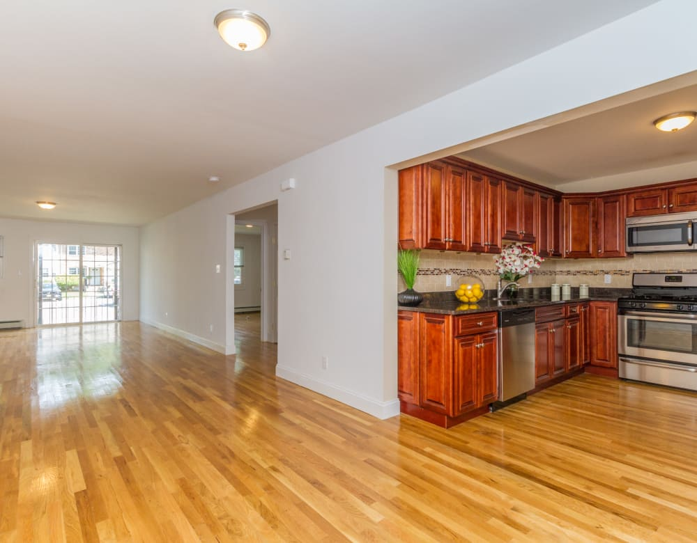 Hardwood flooring at Eagle Rock Apartments at Woodbury in Woodbury, New York