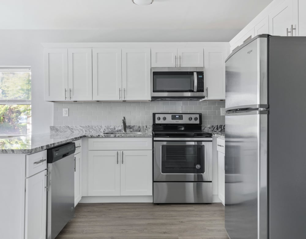 Stainless steel appliances at Bunt Commons in Copiague, New York