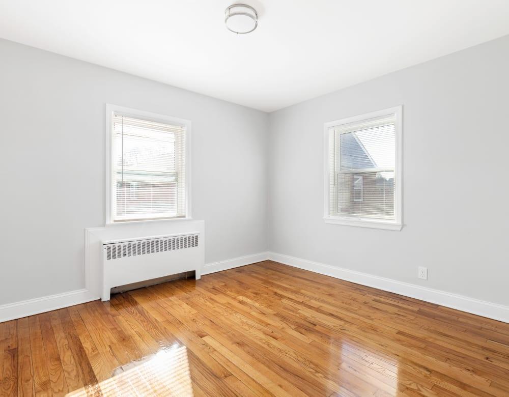 Bright bedroom at Eagle Rock Apartments at Huntington Station in Huntington Station, New York