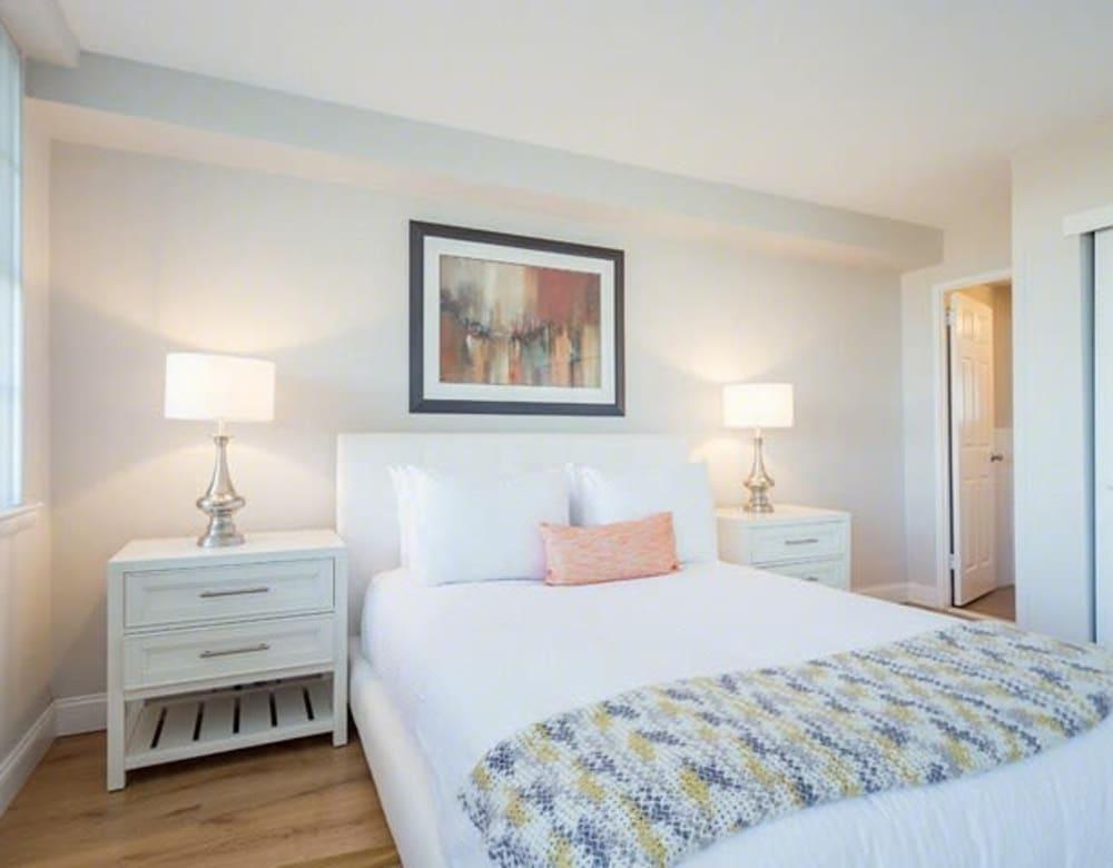 Bright bedroom  at Chestnut Hill Tower in Philadelphia, Pennsylvania