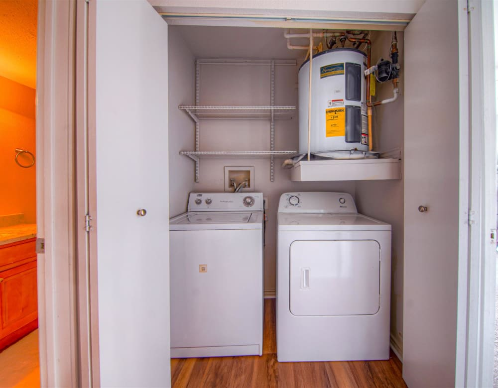 In-unit washer and dryer at Hampton Point Apartment Homes in Silver Spring, Maryland
