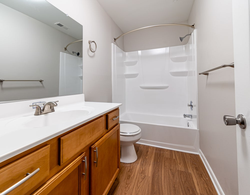 Bathroom in Ramblewood Village Apartments in Mount Laurel, New Jersey