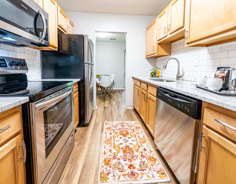 Well appointed kitchen in Ramblewood Village Apartments in Mount Laurel, New Jersey