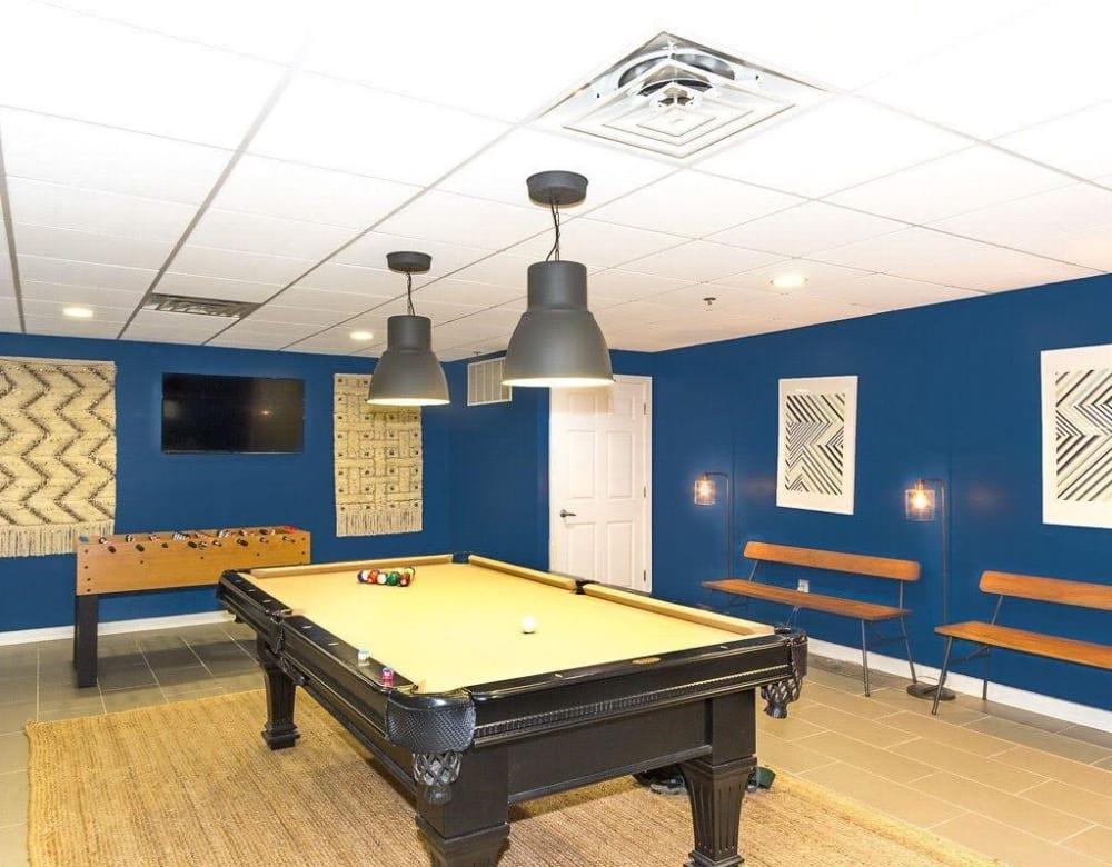 Billiards room at Chestnut Hill Tower in Philadelphia, Pennsylvania
