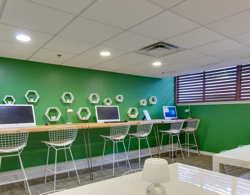 Business center at Chestnut Hill Tower in Philadelphia, Pennsylvania