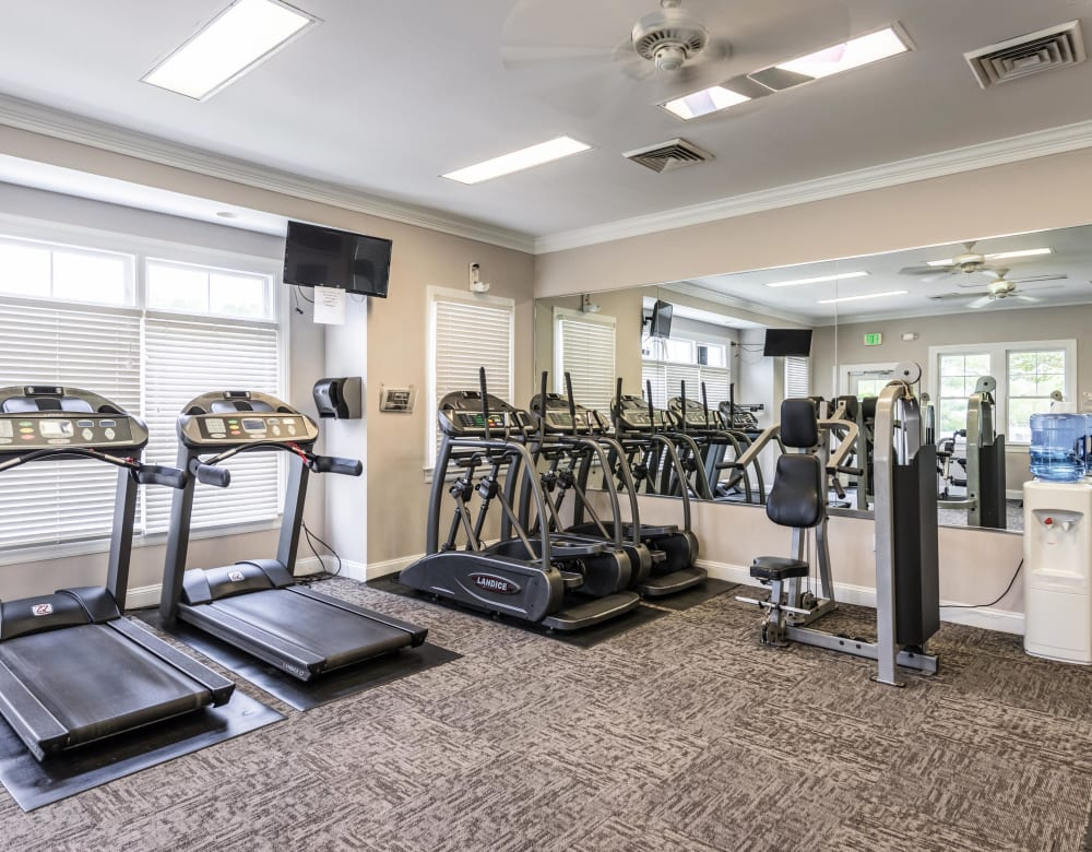 Equipment in the gym at The Blvd at White Springs in Nottingham, Maryland