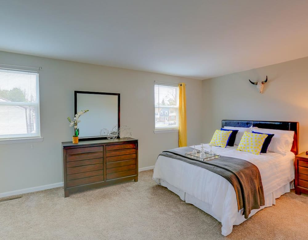 A spacious bedroom at The Springs in Parkville, Maryland