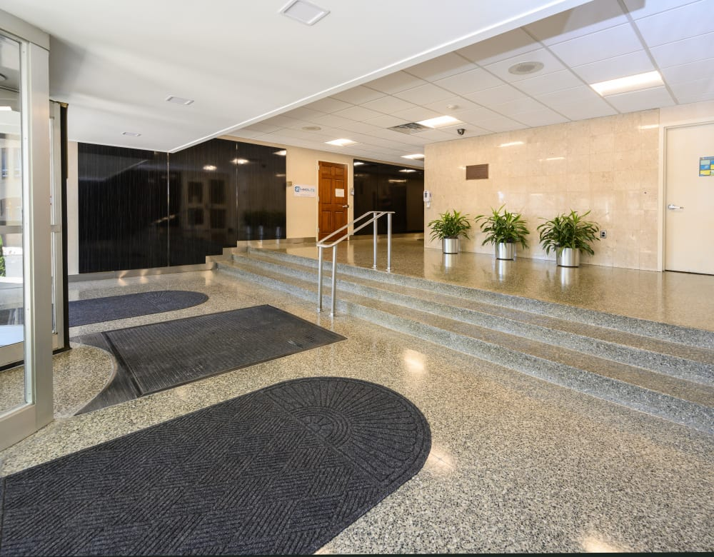 Lobby area at 190 Moore Corporate Center in Hackensack, New Jersey