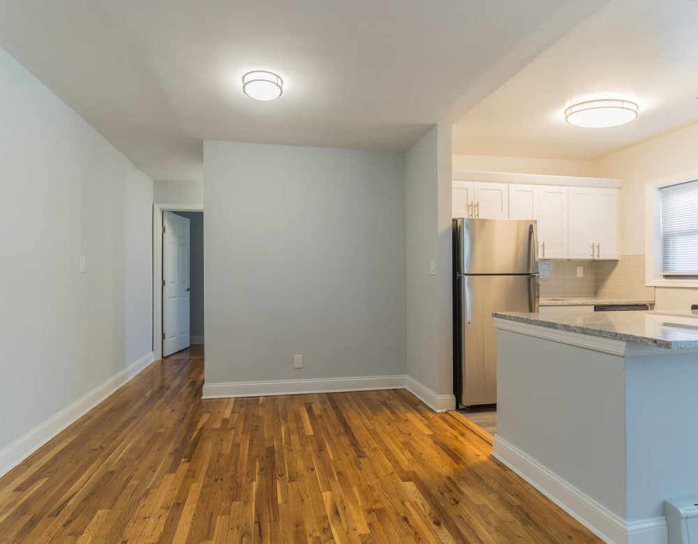 Hardwood floor in apartment at Eagle Rock Apartments at Hicksville in Hicksville, New York