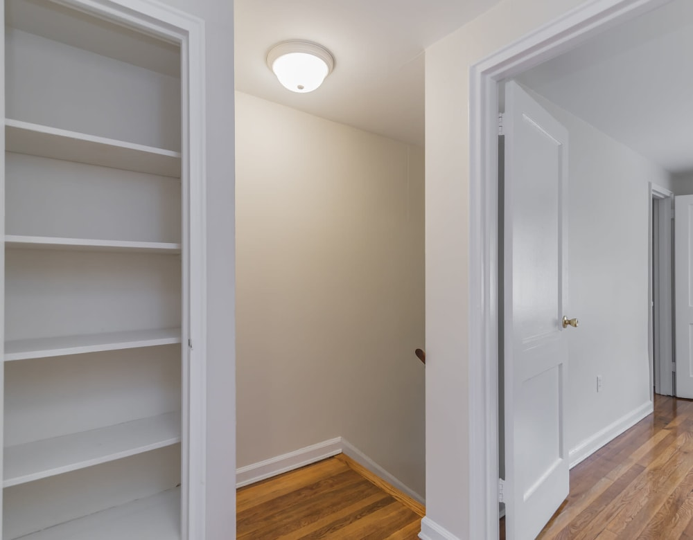 entry to bedroom at West Gate Townhomes in New Haven, Connecticut