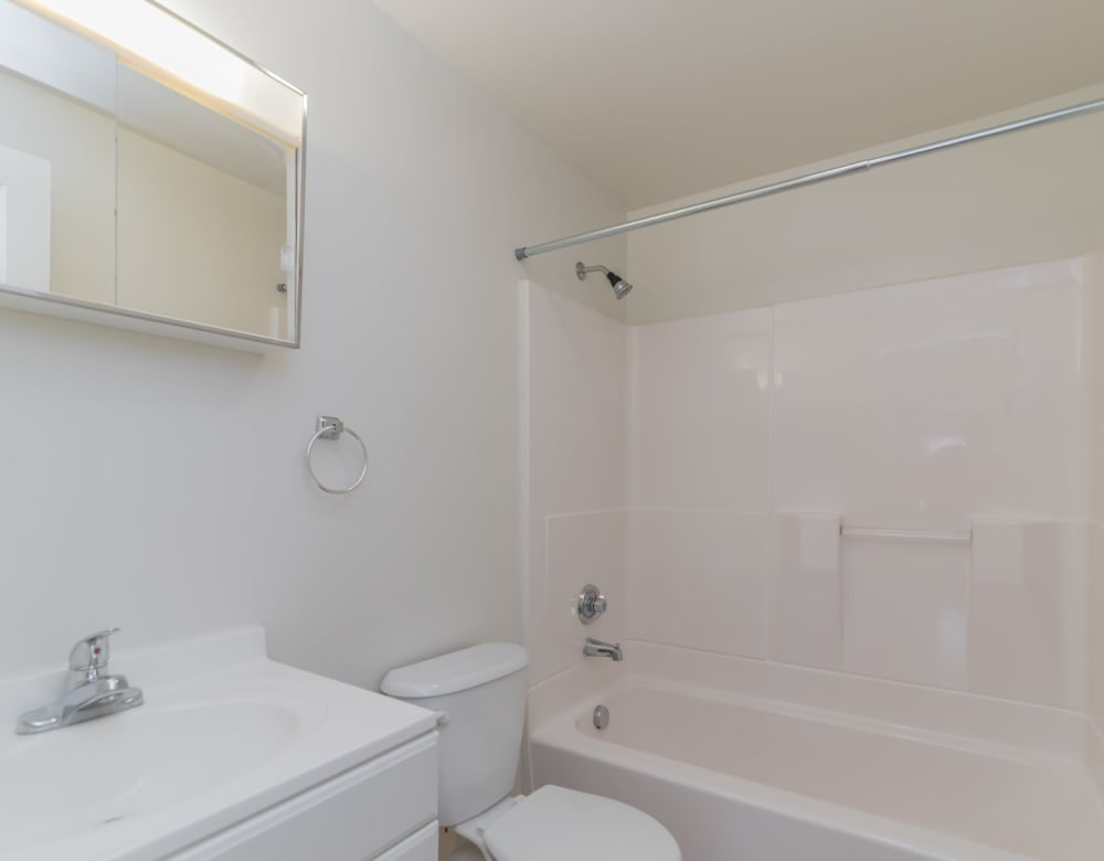 Bathroom at West Gate Townhomes in New Haven, Connecticut
