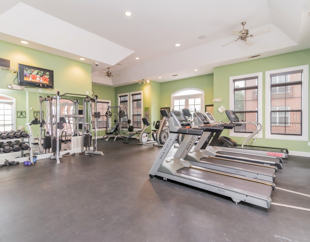 Fitness Center at Westville Village Apartments in New Haven, Connecticut