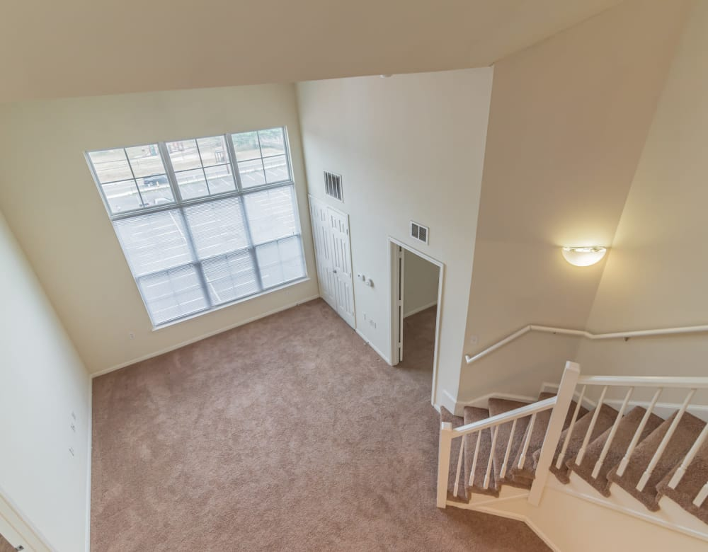 Upstairs view of apartment at  Westville Village Apartments in New Haven, Connecticut