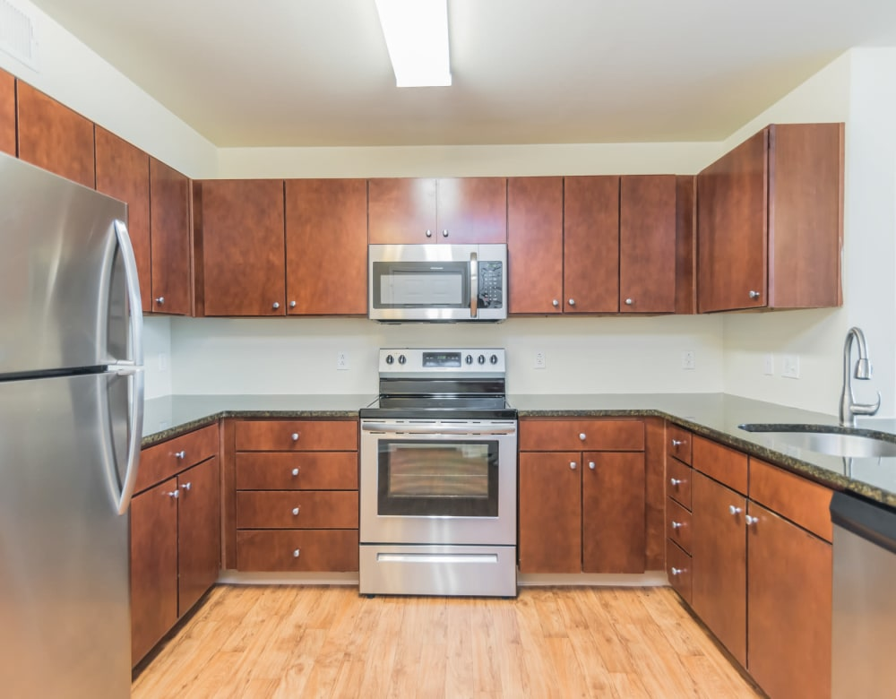 Kitchen at Westville Village Apartments in New Haven, Connecticut