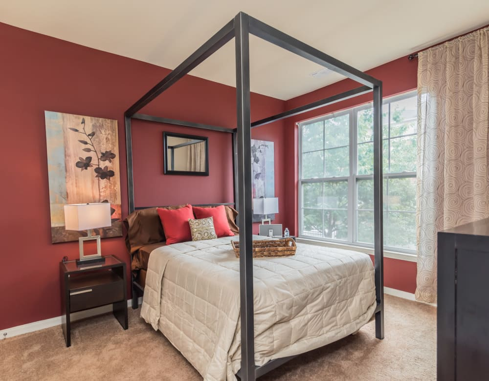Bedroom at Westville Village Apartments in New Haven, Connecticut
