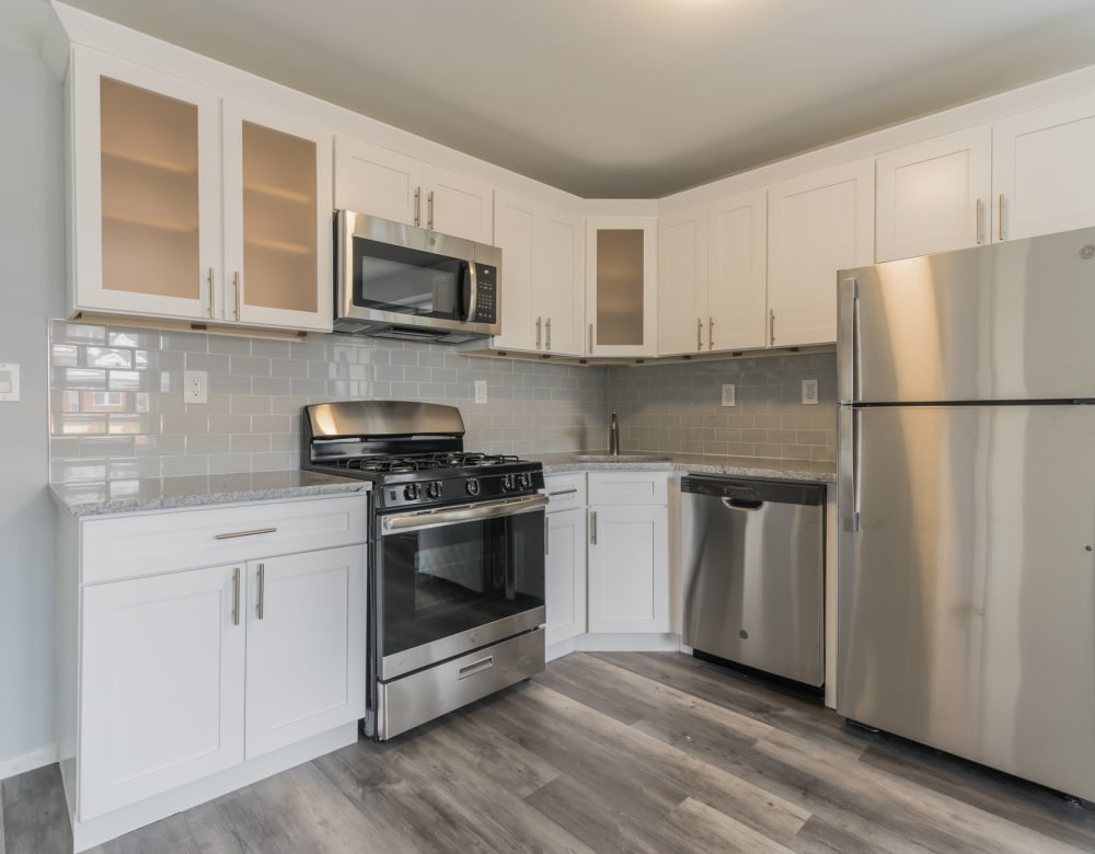 A nice kitchen with new appliances at Bunt Commons I in Lindenhurst, New York