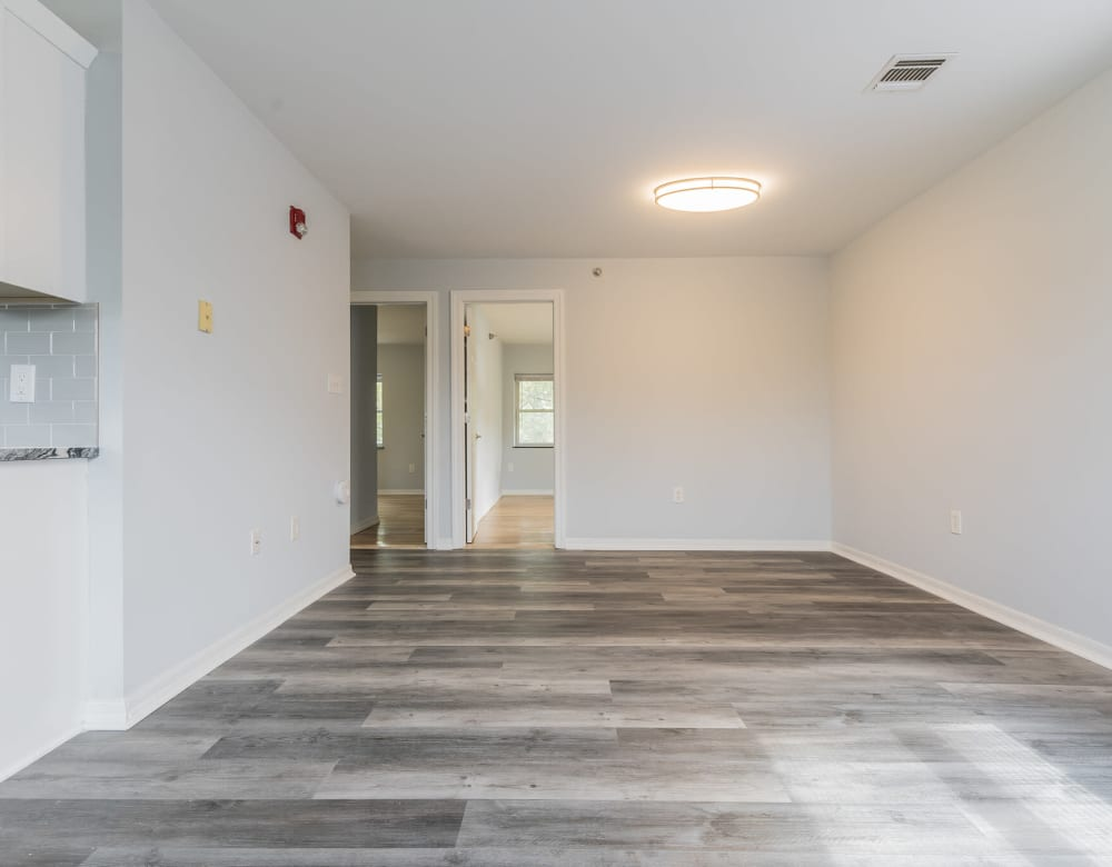 A large living room area at Bunt Commons III in Amityville, New York