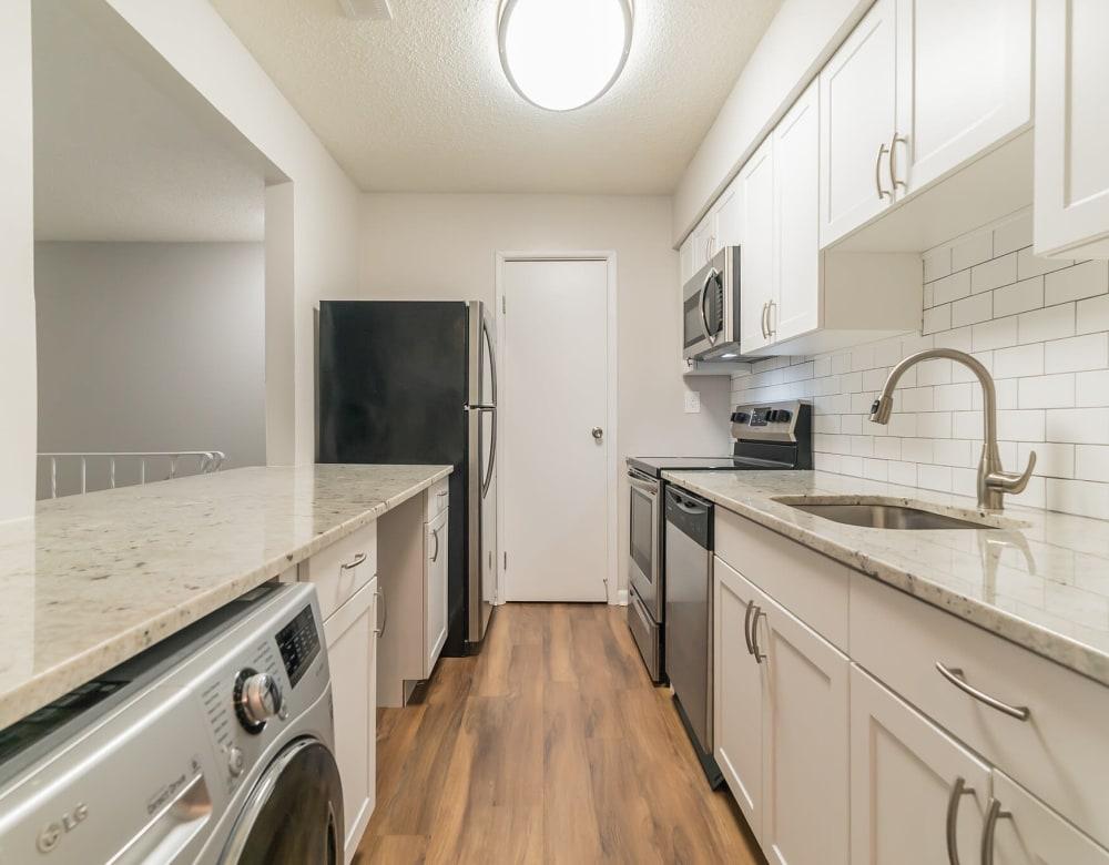 Kitchen at Ramblewood Village Apartments in Mount Laurel, New Jersey