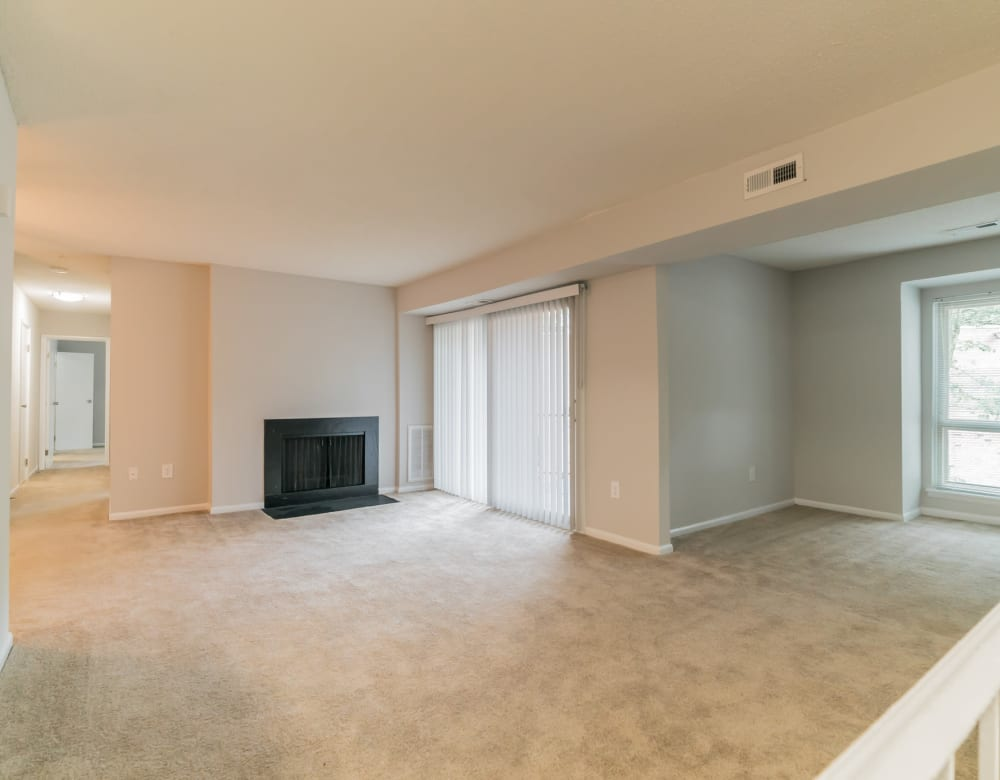 Living room at Ramblewood Village Apartments in Mount Laurel, New Jersey