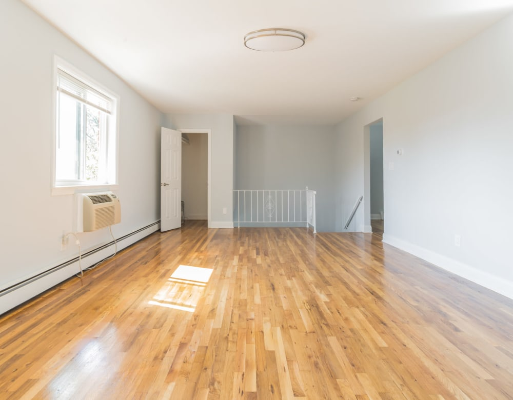 Living room of unit at Bellmore Manor Gardens with hardwood floors