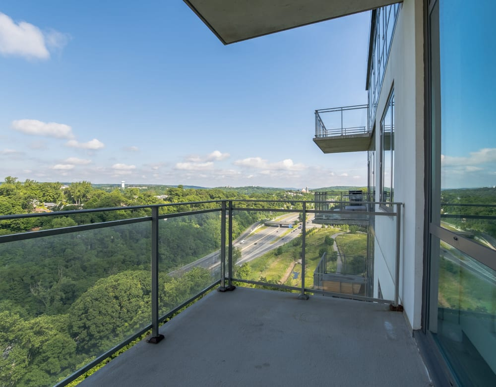 Private balcony at Monarch at Ridge Hill in Yonkers, New York