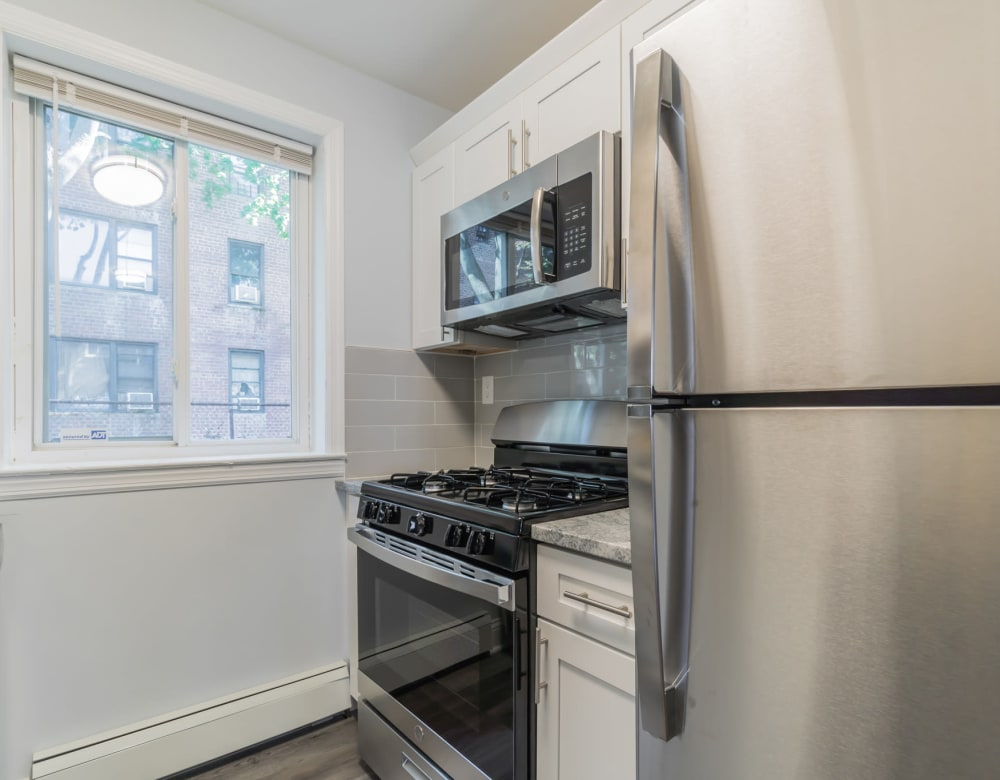 Stainless steel appliances at Pine Gardens in Freeport, New York