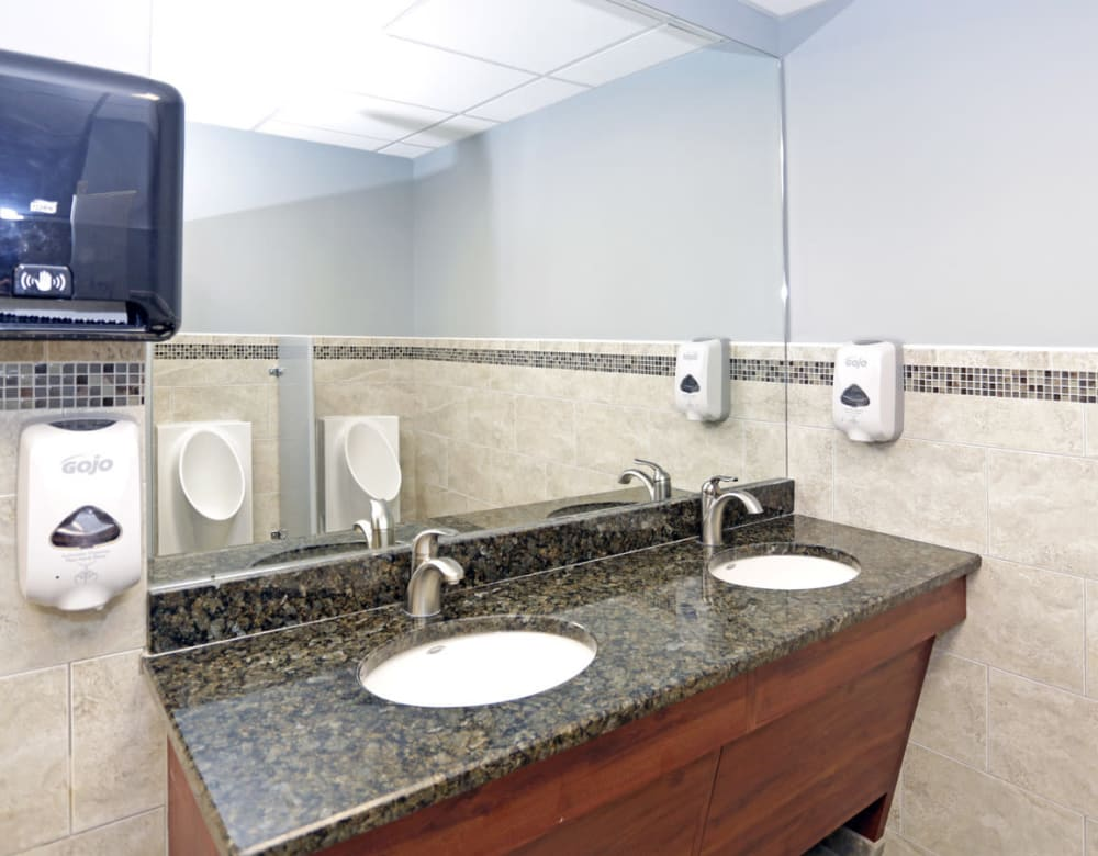 Bathrooms at 190 Moore Corporate Center in Hackensack, New Jersey