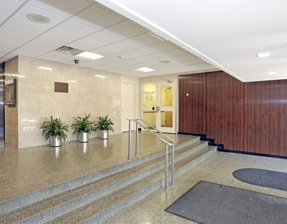 Foyer staircases at 190 Moore Corporate Center in Hackensack, New Jersey