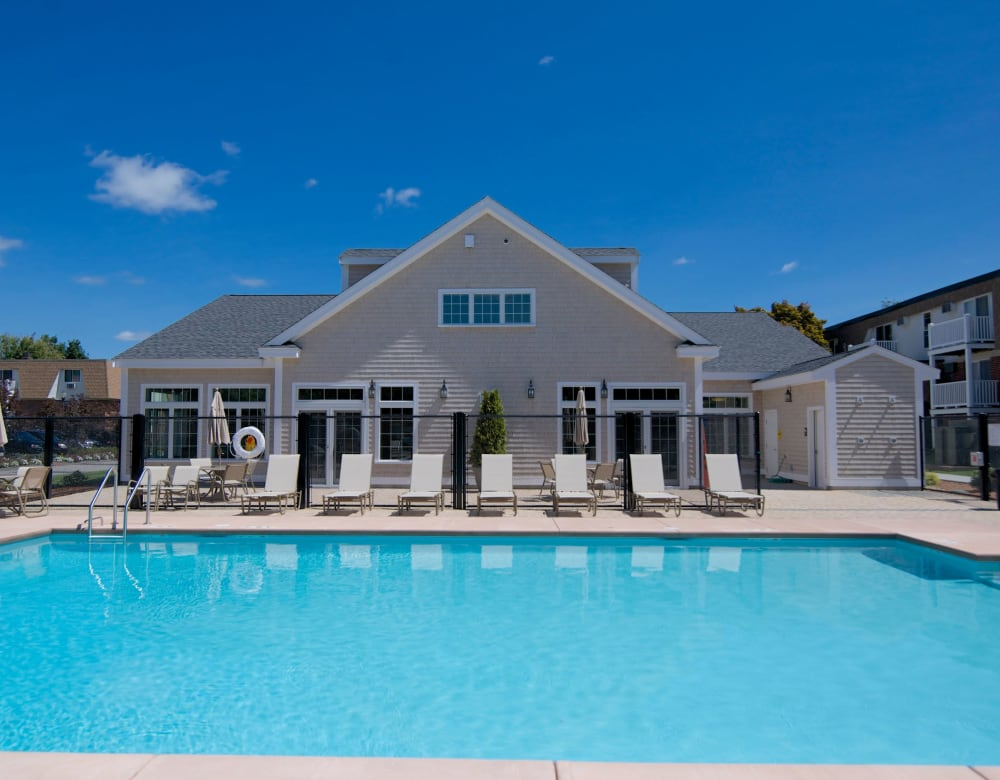 Outdoor swimming pool at Park Village West in Westborough, Massachusetts