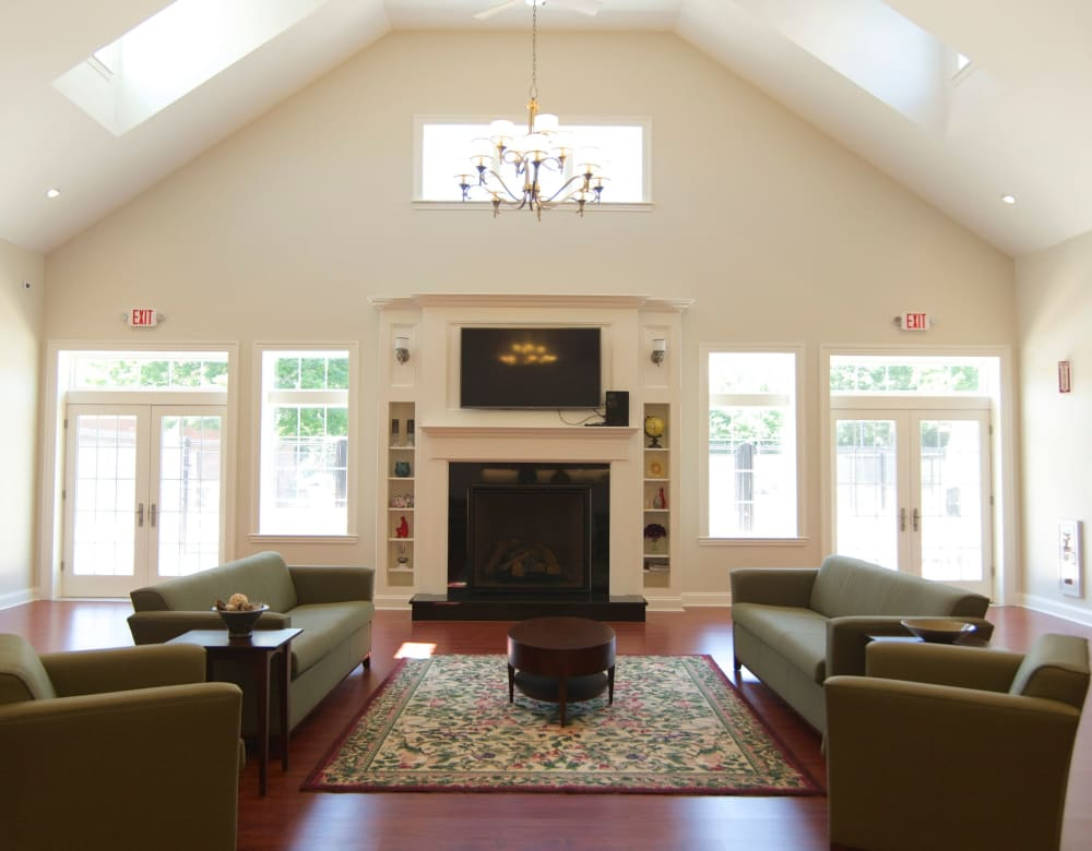 Clubhouse lounge at Park Village West in Westborough, Massachusetts