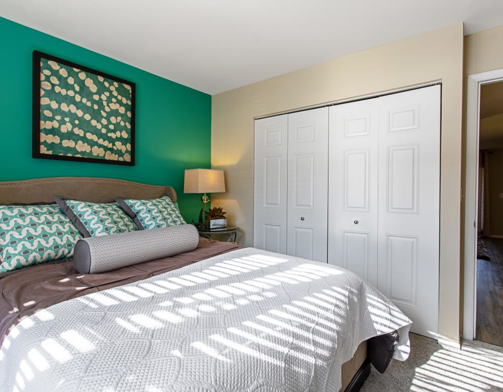 Walk in closets at Eagle Rock Apartments at Columbia in Columbia, Maryland