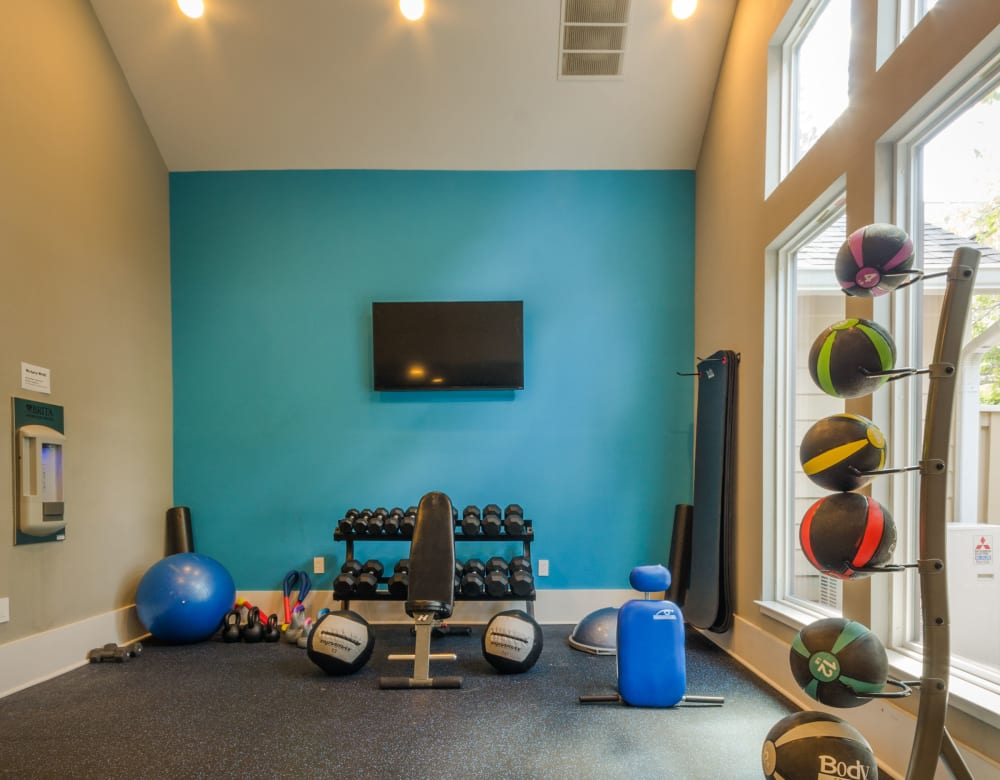 Fitness center at Eagle Rock Apartments at Columbia in Columbia, Maryland