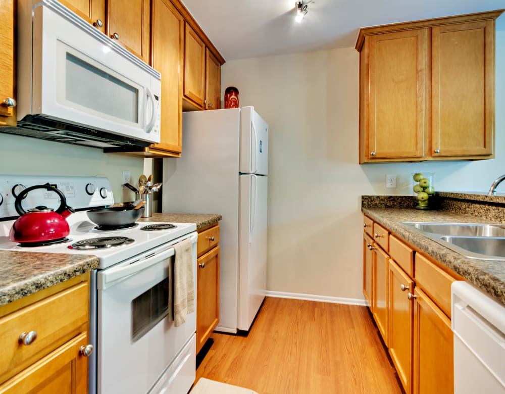 Updated kitchen at Eagle Rock Apartments at Columbia in Columbia, Maryland